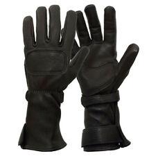 Lee Parks DeerSports Leather Gauntlet Gloves Black XS 1DSBK-0001XS