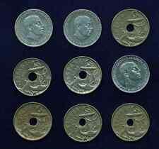 SPAIN 50 CENTIMOS COINS: 1949(51), 1949(52), 1949(53), 1949(54), 1963(64), 1963(