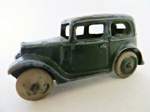 DINKY 35a 'AUSTIN SEVEN / 7 SALOON CAR' DARK GREEN. GOOD. VINTAGE/ORIGINAL