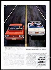 1964 Chevrolet Corvair Monza convertible red car Club Coupe white car print ad