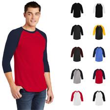 American Apparel BB453W Men's Poly-Cotton 3/4 Sleeve Raglan T-Shirt Slim Fit