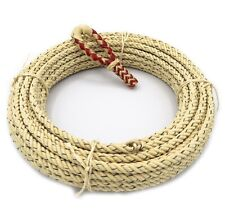 68 Foot 4 Strand Lariat Lasso Rodeo Rope With red Rawhide Hondo Set