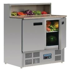 Polar Refrigerated Pizza Prep Counter with Marble Top 288Ltr - G603 Catering