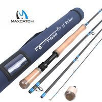 Maxcatch Switch/Spey Fly Fishing Rod 4/5/6/7/9 WT 4/6Sec Two-handed Fihisng Rod