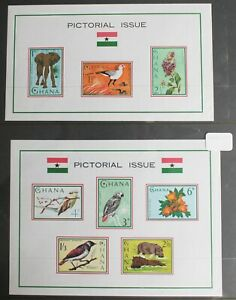 Ghana – Pictorial Set on TWO Minisheets – VLM Mint – (R8)
