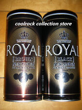 2016 China ROYAL BROWN & BLACK beer can 2 cans set 1L/1000ml empty