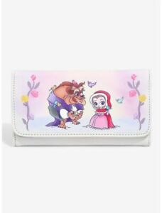 Loungefly Disney Beauty And The Beast Chibi Princess Trifold Floral Wallet