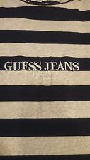 MENS GUESS RARE BLACK GRAY STRIPED SHIRT SIZE XL ASAP ROCKY GUE$$ VINTAGE A$AP