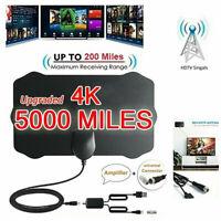 5000 Mile Range HDTV Antenna 4K HD Indoor Digital TV Aerial Signal Amplifier QA