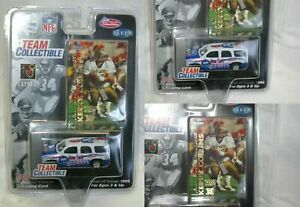 1999 New York Giants KERRY COLLINS MINI GMC YUKON  plus trading card SCALE 1:58