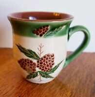 Coffee Mug Cup Pine Cone Lodge rustic Cabin Camping Hampton Forge Excellent