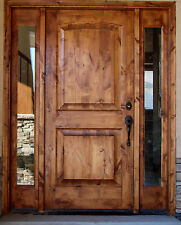 #EXB-1331 TUSCAN DESIGN KNOTTY ALDER ENTRY DOOR WITH SIDE LITES 3068