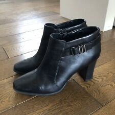 Marks And Spencer Black Heeled Boots - Size 7