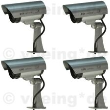 4x Kameraatrappe CCD Überwachungskamera Dummy Kameradummy Kamera-Attrappe m. LED