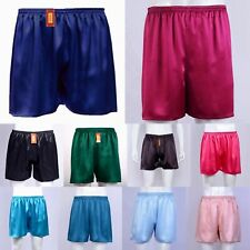 Mens 19 Momme 100% Silk Lounge Boxers Underwear Jogging Shorts All Size Ailisilk