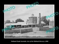 OLD LARGE HISTORIC PHOTO OF OAKBANK SOUTH AUSTRALIA, THE OAKBANK BREWERY 1880