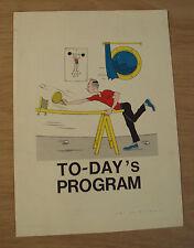 1966 Holland-America Line~SS STATENDAM 'TO-DAY'S PROGRAM'~Ephemera~