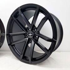 "20"" Satin Black ZL1 Style Wheels 20x9 20x10 Inch 5x120 Rims Chevy Camaro 2010-16"