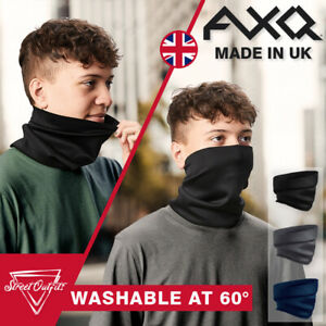 Washable Face Mask Snood UK Made Scarf Breathable Cover Protection