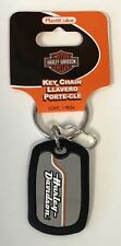 Harley-Davidson Rubber Dog Tag Metal Stacked Logo Key Chain NEW