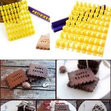 Mini Alphabet Number Letter Cookie Biscuit Stamp Cutter Embosser Cake Mould UK