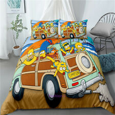 Doona/Duvet/Quilt Cover Set Single/Double/Queen/King Size Bed The Simpsons Car