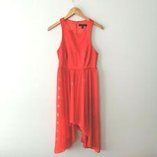 Forever New Women's Size 10 Red / orange Dress Party Formal Wedding Racer back