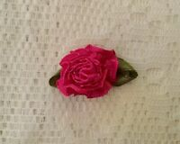CERISE ROSE FLOWER MAGNET/MAGNETIC HAIR BOW ACCESSORY 4 REBORN/FAKEBABY