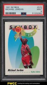 1991 Skybox Basketball Michael Jordan #572 PSA 9 MINT