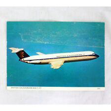 Británico Caledonian Airways - BAC 1-11 - Avión Tarjeta postal - Bueno Calidad