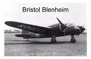 Bristol Blenheim UK Aircraft WW2 Metal Aluminium Sign Plaque 23x15cm