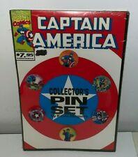 CAPTAIN AMERICA, Pin / Button Set (Marvel Comics)