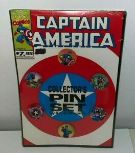 CAPTAIN AMERICA, Pin / Button Set (Marvel Comics)