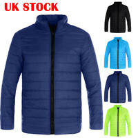 Mens Coats Ultralight Quilted Jacket Zip Up Coat Padded Puffer Winter Warm Coats