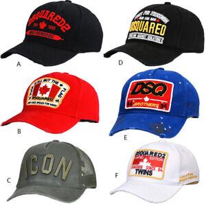 DSQUARED2 CAP ICON Estate Cappellino Baseball Maglia Cappello UOMO Snapback