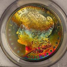 1881-S Morgan Silver Dollar *PCGS MS66+ CAC* Vibrant Rainbow Toning