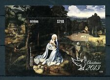 Guyana 2013 MNH Christmas 1v S/S Art Rest Flight Egypt Joachim Patinir Stamps