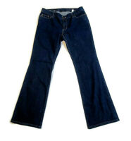 Eddie Bauer Women's Blue Jeans Curvy Boot Cut Stretch Denim Dark Wash Size 10T