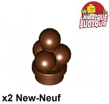 Lego - 2x ice cream scoops boule glace chocolat marron/reddish brown 6254 NEUF