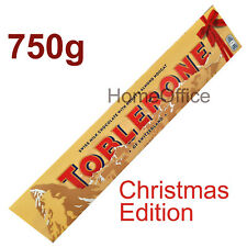 Christmas Toblerone Swiss Milk Chocolate With Honey And Almond Nougat Bar 750g