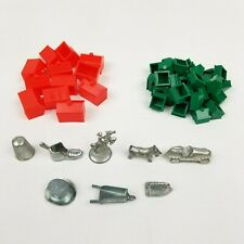 Monopoly Replacement Pieces Parts Tokens Hotels Houses Vintage 1973 Full Set