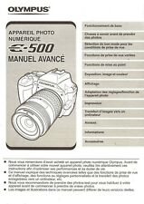 OLYMPUS E-500 DIGITAL CAMERA INSTRUCTION MANUAL -FRENCH TEXT ONLY