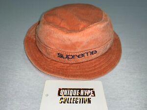 SUPREME 2019 S/S CORDUROY COMPACT LOGO CRUSHER HAT M/L BUCKET CAMP CAP BOX LOGO