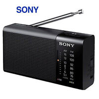 Sony ICF-P36 Compact Paortable FM/AM Radio Battery Operated Black  / Genuine