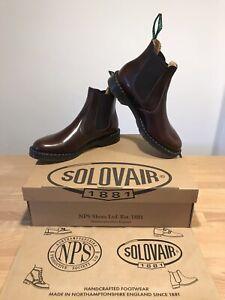 NPS SOLOVAIR Burgundy Rub Off Shine Dealer Chelsea Boot!SizeUK10.5!New!Only£149!