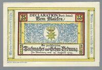 Notgeld - Nörenberg - Stadt Nörenberg (heute Ińsko in Polen) - 25 Pfennig - 1921