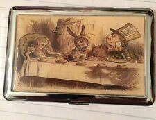 Alice in Wonderland Tea Party 2-Clip Cigarette Case Business Credit Card Holder