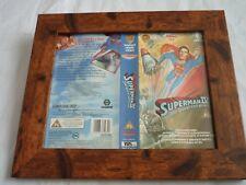 Vhs caja pequeña cubiertas de montaje enmarcado Manga Original Superman IV la búsqueda de la paz