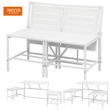 2in1 Sitzbank oder 2 Hocker mit Tisch Balkon Bistro Set Klapptisch Klapstuhl