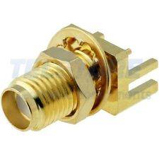 1 Presa SMA FEMMINA THT dorato connettore dritto da saldare da pannello CN134